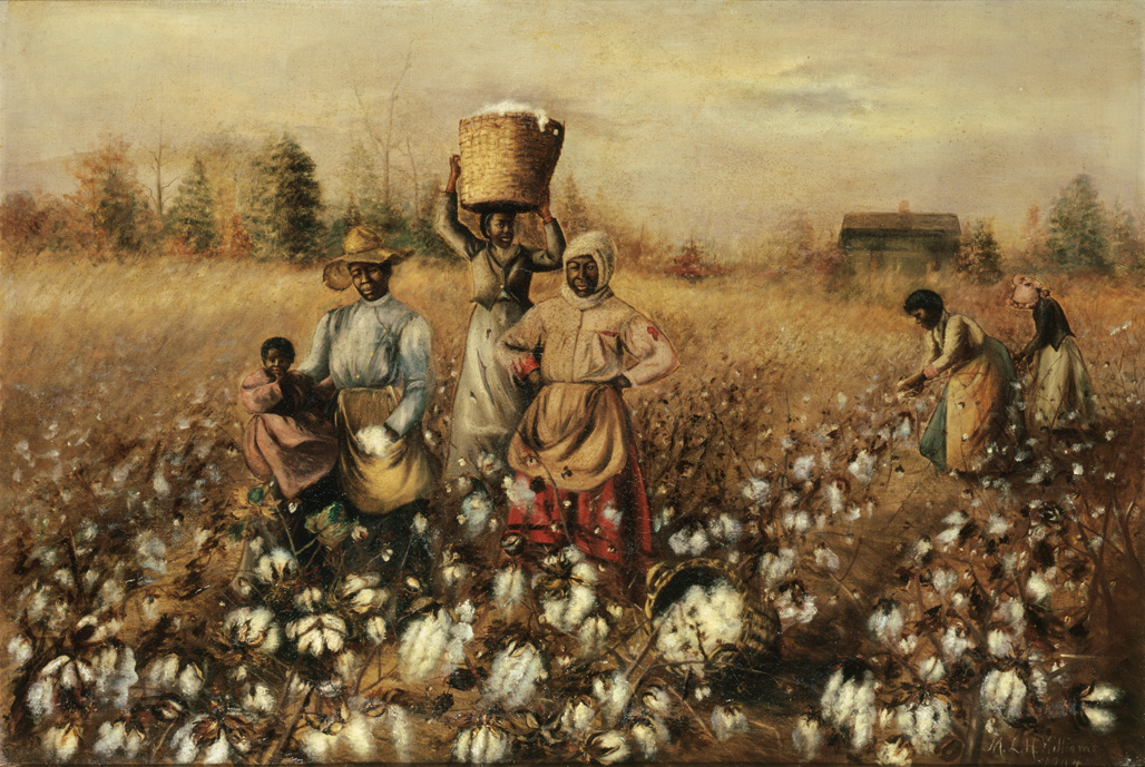 "1890-1910 painting ""Cotton Picking"" by Mary Lyde Hicks Williams"