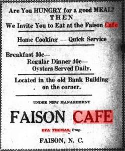 Faison_Cafe_Ad_1935