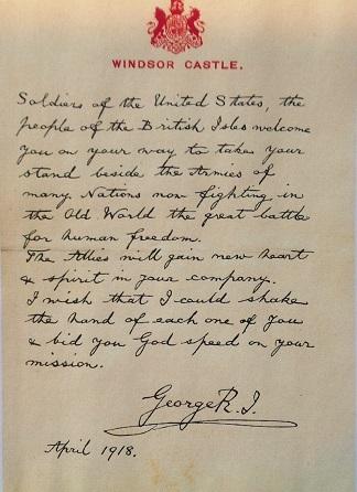 King_George_V_Letter