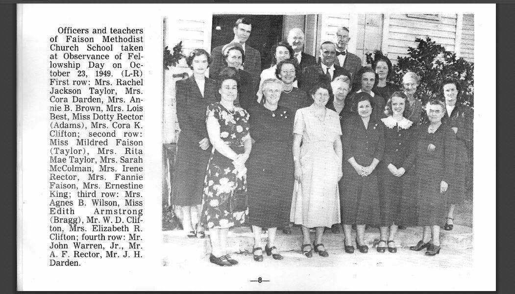 1949 Officers and Teachers of Methodis Church
