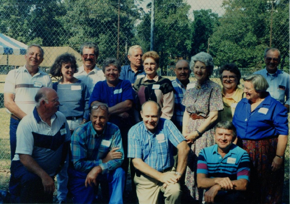 Wade Wheless, Johnnie Howard, Dick Stancil, McCoy Best, Frank Donnell Taylor, Edward Byrd, Smutt Warren, Anne Taylor and Henry Precythe_crop