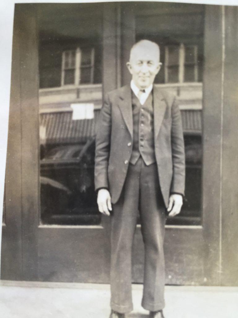 1930's_Frank_Devane_and_Drug_Store_portrait